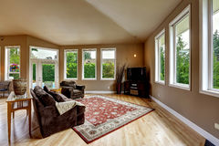 Living room in soft brown tones Royalty Free Stock Photos