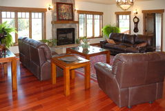Living Room in Spacious House Stock Photography