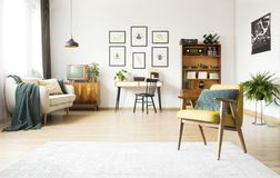 Living room with study space Royalty Free Stock Photography