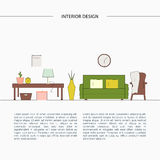 Living room template. royalty free illustration