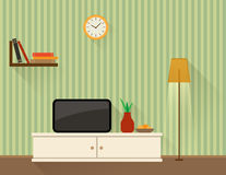 Living room with TV Stock Image