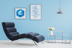 Living room with two pictures royalty free stock photos