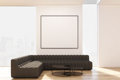 Living room with two sofas and poster Stock Photography