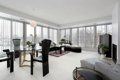 Living room in upscale condo Royalty Free Stock Images