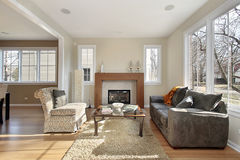 Living room in upscale home Stock Photography