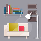 Living room. Vector illustration Royalty Free Stock Photography