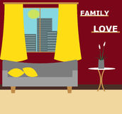 Living room vector illustration. Royalty Free Stock Photography