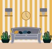 Living room vector illustration. royalty free stock photos