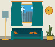 Living room vector illustration. royalty free stock image