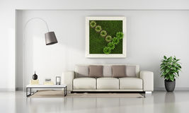 Living room with  vertical garden in frame Royalty Free Stock Images