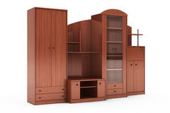 Living Room Wall Unit. 3d rendering Stock Photography