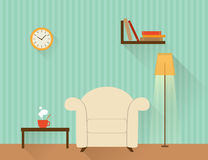 Living room with white armchair Royalty Free Stock Images