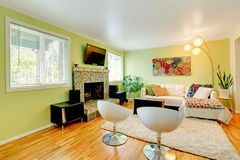 Living room with white furniture Stock Image