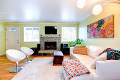 Living room with white furniture Royalty Free Stock Photos