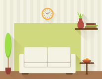 Living room with white sofa. Stock Photography