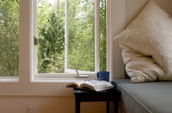 Living room window seat Stock Photos