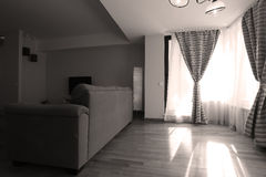 Free Living Room With New Curtains Stock Photography - 81868162