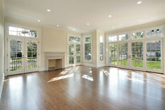 Free Living Room With Wall Of Windows Royalty Free Stock Photo - 12798035