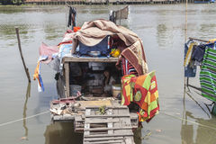 Living on the Saigon river Stock Image