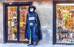Living sculpture in the costume of Casanova. Venice Stock Image
