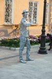 Living sculpture of a man Royalty Free Stock Photos