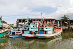 Living ships on chao phraya river in bangkok Royalty Free Stock Image