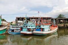 Living ships on chao phraya river in bangkok Royalty Free Stock Image
