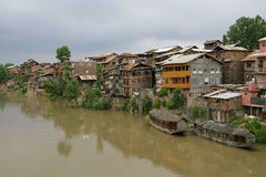 Living in Srinagar, Kashmir. A small community in Srinagar, Kashmir (India) on a hot muggy summer day royalty free stock photography
