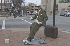 Living Statue Artist in Downtown Asheville Royalty Free Stock Photos