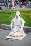 Living statue artists show stock photography