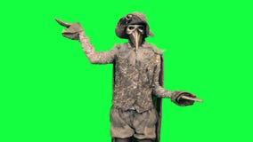 Living statue as Libra Man Chromakey stock video