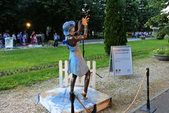Living statue - dancer with blue hat Stock Images