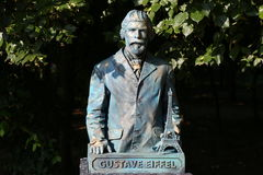 Living statue - Gustave Eiffel Stock Photography