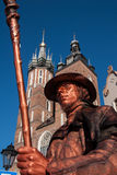 A living statue in Krakow Stock Photography