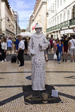 Living Statue in Lisbon Stock Photo