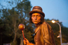Living statue Stock Photography
