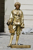 Living statue - the man in the image of musician Royalty Free Stock Photography
