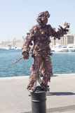 Living statue in Marseille Royalty Free Stock Images