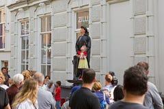 Living Statue Reverend Jansplein in Arnhem. Arnhem Netherlands September 28, 2014: Living Statue Reverend Jansplein in Arnhem Royalty Free Stock Images