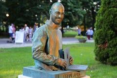 Living statue - Steve Jobs. Living statue -  Steve Jobs at international festival of living statues in Bucharest, Romania Stock Photography
