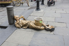 Living Statue Street Artist Royalty Free Stock Image