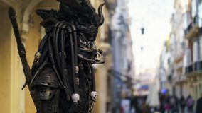 Living Statue Street Performer Cadiz Spain Royalty Free Stock Image