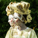 Living Statues - Japanese women Royalty Free Stock Photography
