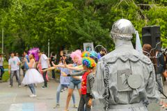 Living statues Royalty Free Stock Photos