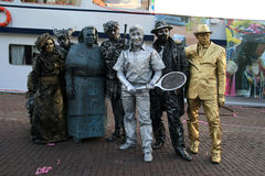 Living statues people Royalty Free Stock Photography