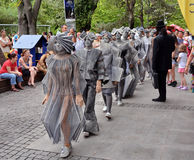 Living Statues Royalty Free Stock Photo