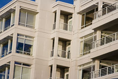 Living in todays modern condos. In an upscale area royalty free stock photo