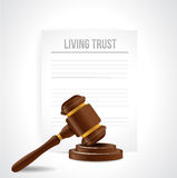 Living trust legal document illustration Stock Photography