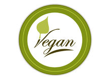 Living vegan badge Royalty Free Stock Photo