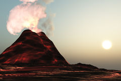 Living Volcano Royalty Free Stock Photography